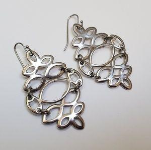 Lia Sophia Silver Statement Earrings
